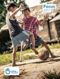 Couverture du rapport d'activité 2017 de Handicap International France